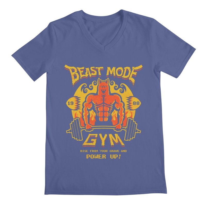Beast Mode Gym Men's V-Neck by Stationjack Geek Apparel
