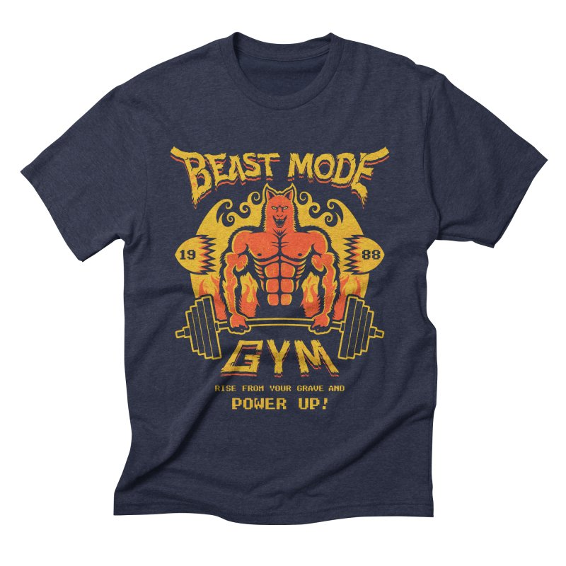 Beast Mode Gym Men's Triblend T-shirt by Stationjack Geek Apparel