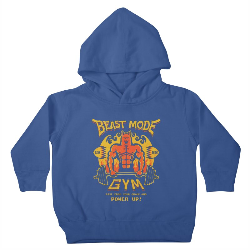 Beast Mode Gym Kids Toddler Pullover Hoody by Stationjack Geek Apparel