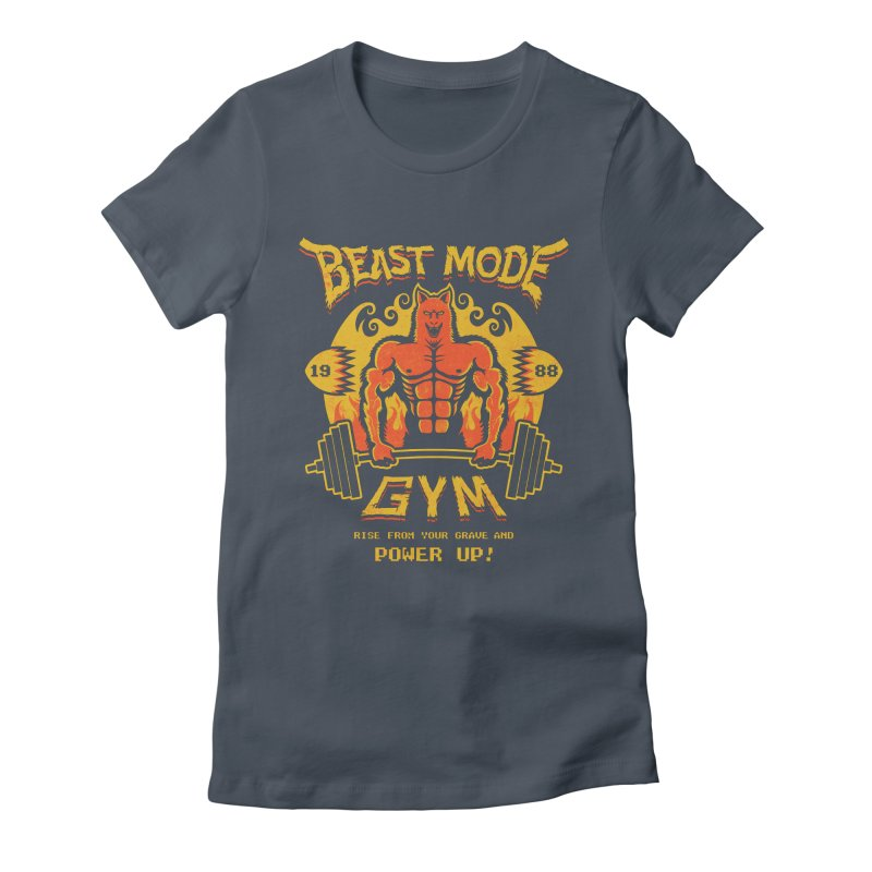 Beast Mode Gym Women's Fitted T-Shirt by Stationjack Geek Apparel