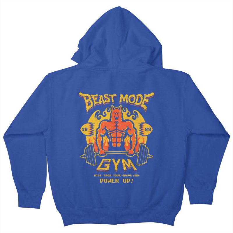 Beast Mode Gym Kids Zip-Up Hoody by Stationjack Geek Apparel