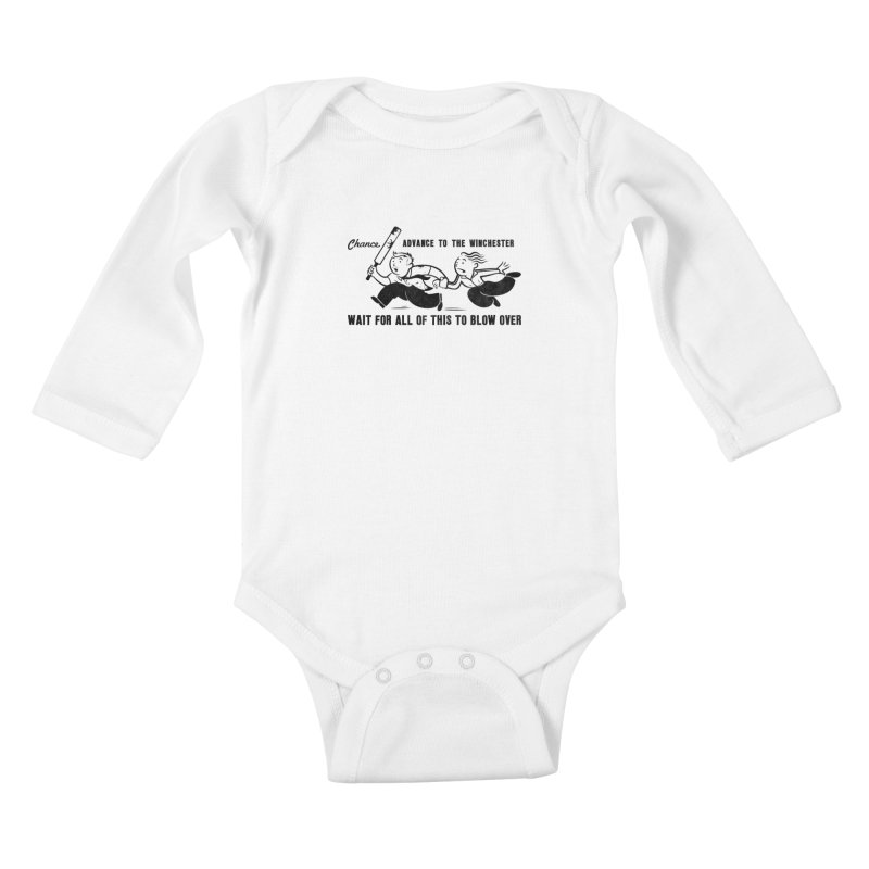 Shaun's Last Chance Kids Baby Longsleeve Bodysuit by Stationjack Geek Apparel