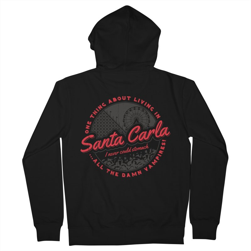 Living in Santa Carla Men's Zip-Up Hoody by Stationjack Geek Apparel