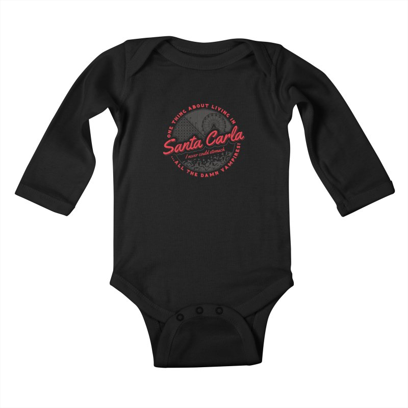 Living in Santa Carla Kids Baby Longsleeve Bodysuit by Stationjack Geek Apparel