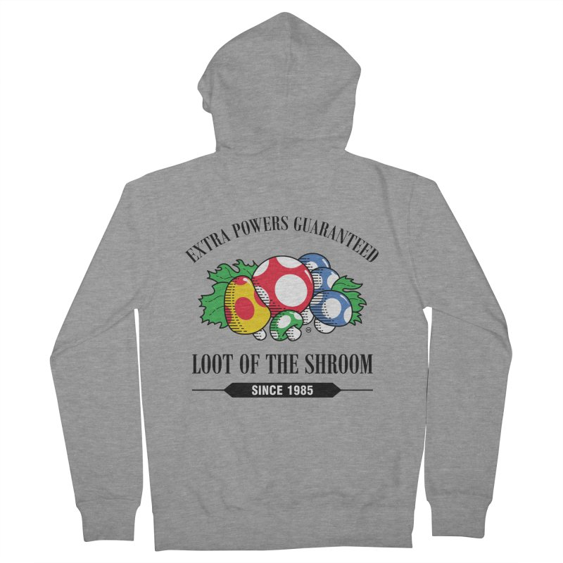Loot of the Shroom Men's Zip-Up Hoody by Stationjack Geek Apparel