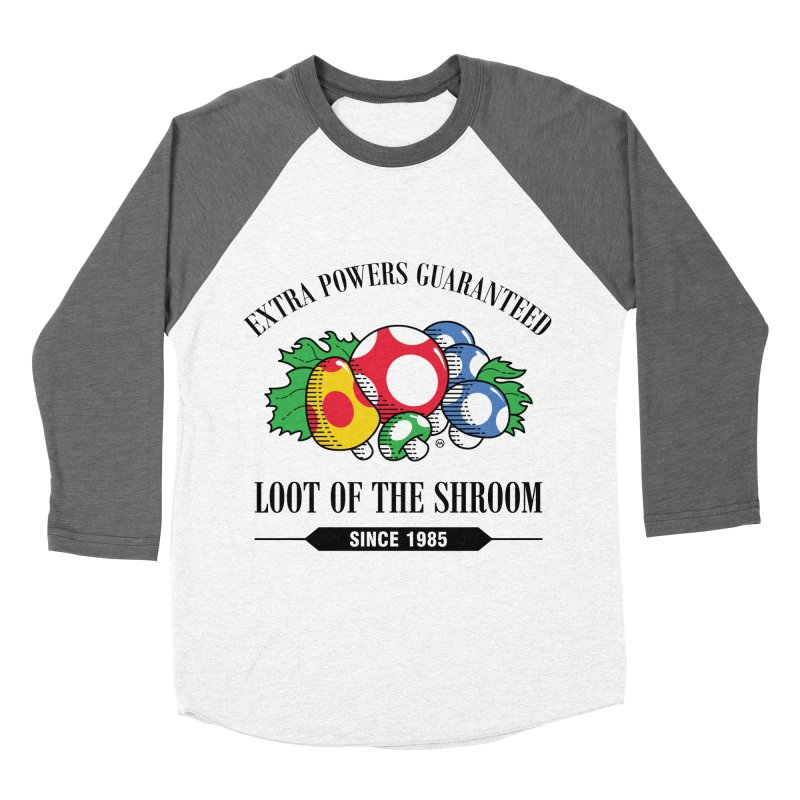 Loot of the Shroom Women's Baseball Triblend T-Shirt by Stationjack Geek Apparel