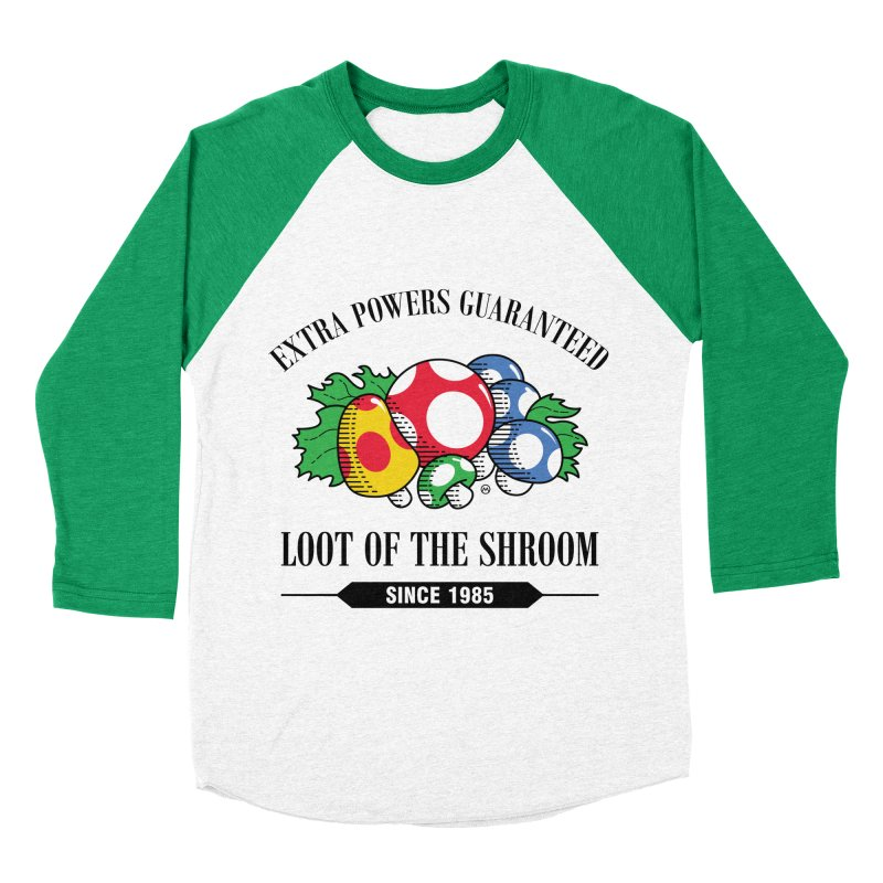 Loot of the Shroom Men's Baseball Triblend T-Shirt by Stationjack Geek Apparel
