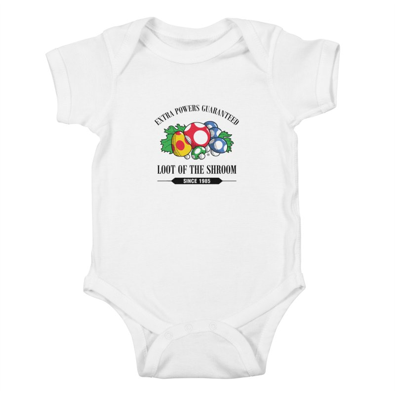 Loot of the Shroom Kids Baby Bodysuit by Stationjack Geek Apparel