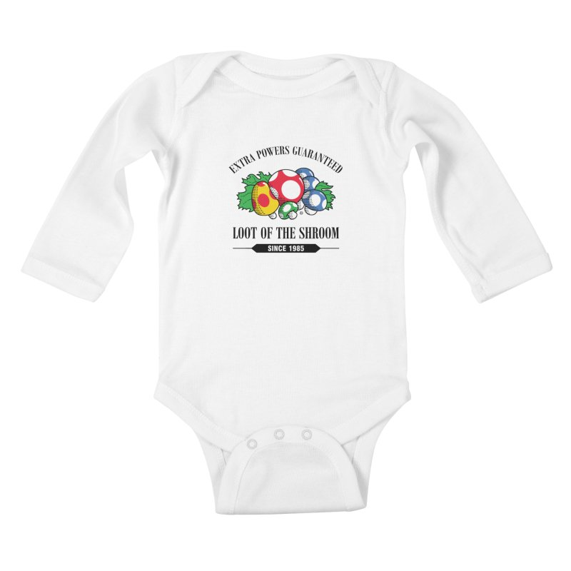 Loot of the Shroom Kids Baby Longsleeve Bodysuit by Stationjack Geek Apparel
