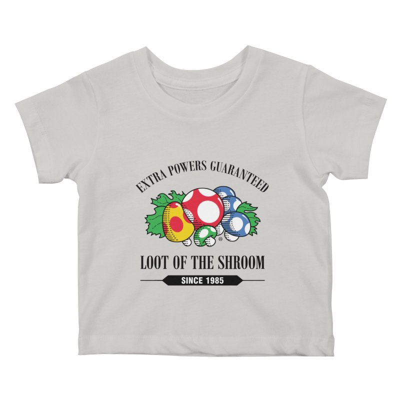 Loot of the Shroom Kids Baby T-Shirt by Stationjack Geek Apparel