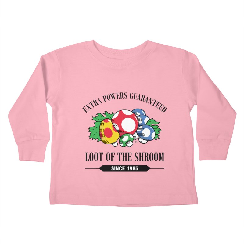 Loot of the Shroom Kids Toddler Longsleeve T-Shirt by Stationjack Geek Apparel