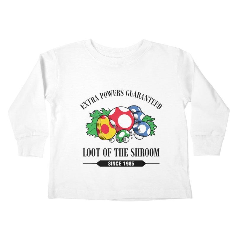 Loot of the Shroom Kids Toddler Longsleeve T-Shirt by Stationjack Geek Apparel