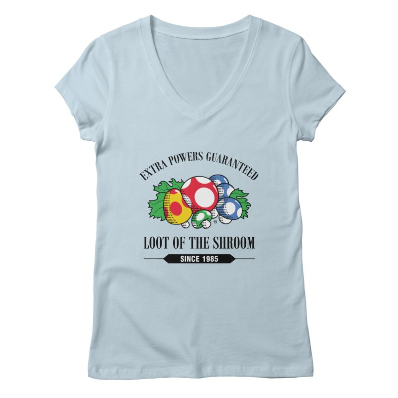 Loot of the Shroom Women's V-Neck by Stationjack Geek Apparel