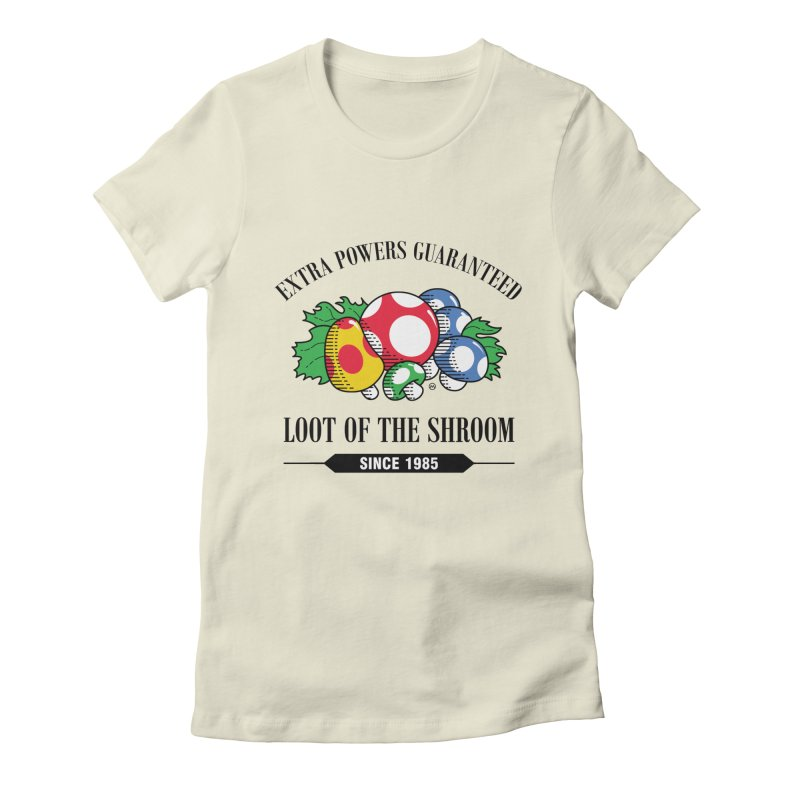 Loot of the Shroom Women's Fitted T-Shirt by Stationjack Geek Apparel