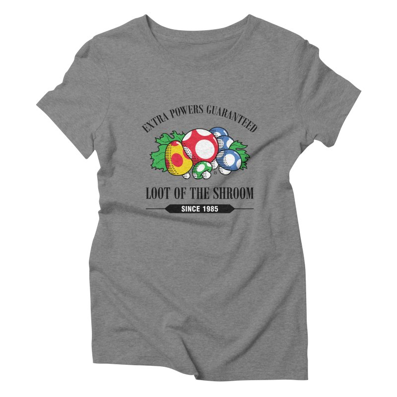 Loot of the Shroom Women's Triblend T-shirt by Stationjack Geek Apparel