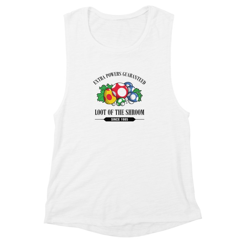 Loot of the Shroom Women's Muscle Tank by Stationjack Geek Apparel