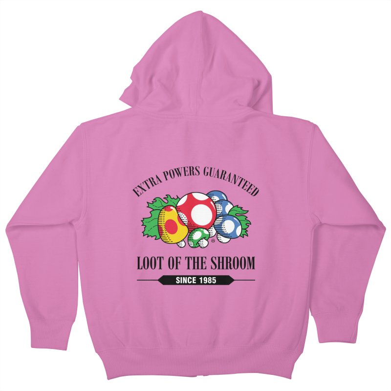 Loot of the Shroom Kids Zip-Up Hoody by Stationjack Geek Apparel