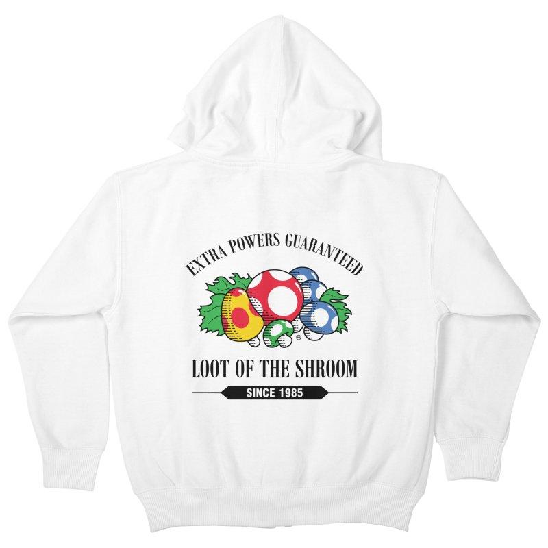 Loot of the Shroom Kids Zip-Up Hoody by Stationjack Geek Apparel