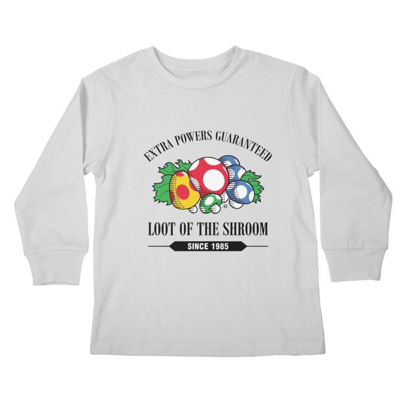 Loot of the Shroom Kids Longsleeve T-Shirt by Stationjack Geek Apparel