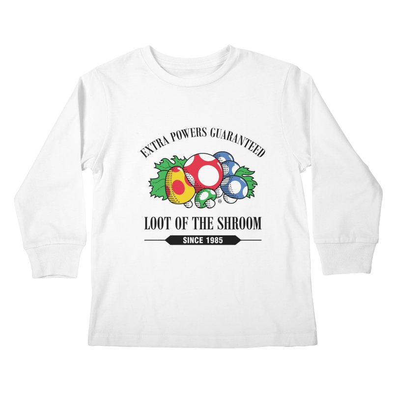 Loot of the Shroom Kids Longsleeve T-Shirt by Stationjack Geek Apparel