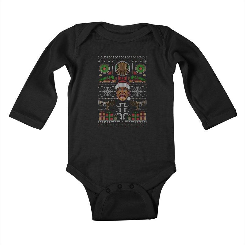 Hap Hap Happiest Christmas Kids Baby Longsleeve Bodysuit by Stationjack Geek Apparel