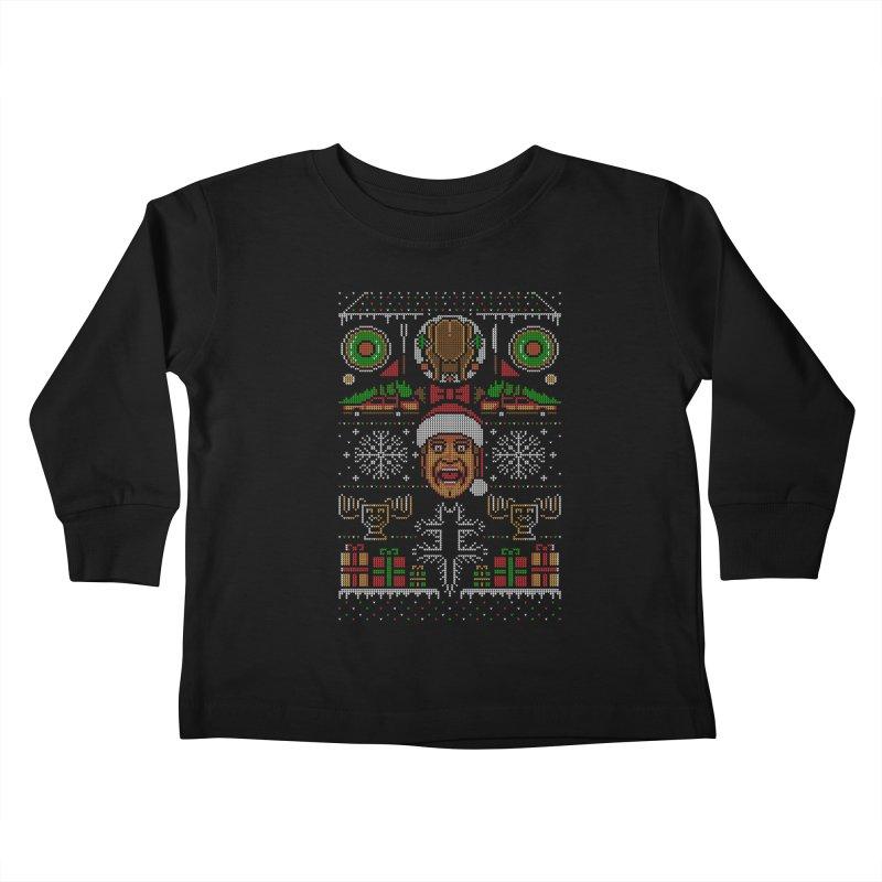 Hap Hap Happiest Christmas Kids Toddler Longsleeve T-Shirt by Stationjack Geek Apparel