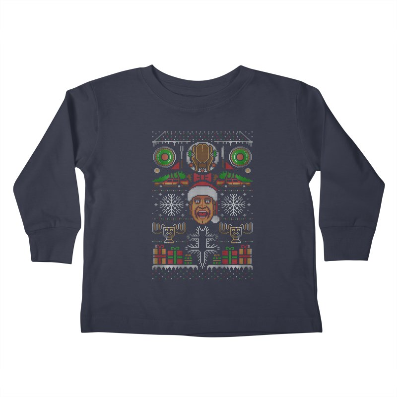 Hap Hap Happiest Christmas Kids Toddler Longsleeve T-Shirt by Stationjack Geek Apparel