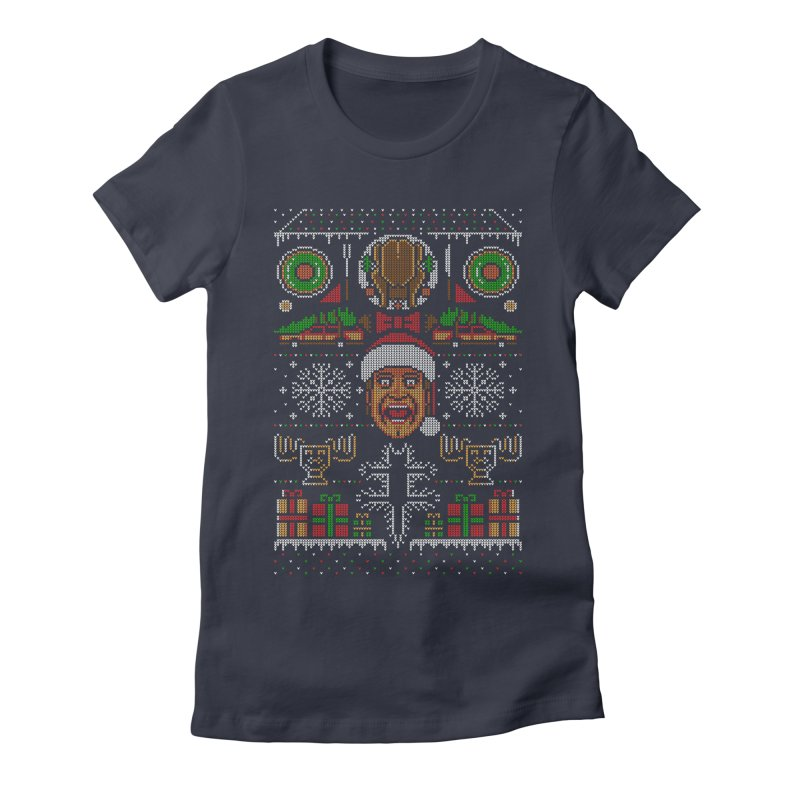 Hap Hap Happiest Christmas Women's Fitted T-Shirt by Stationjack Geek Apparel