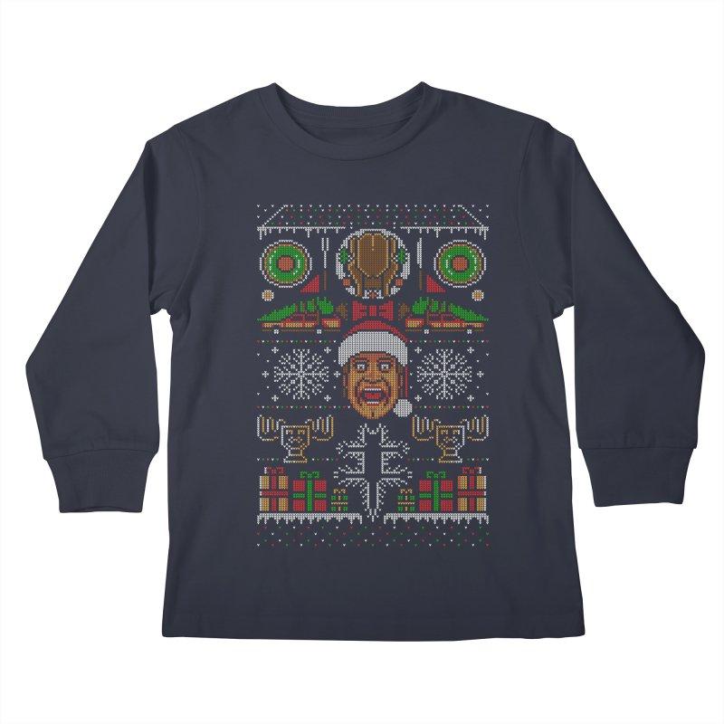 Hap Hap Happiest Christmas Kids Longsleeve T-Shirt by Stationjack Geek Apparel