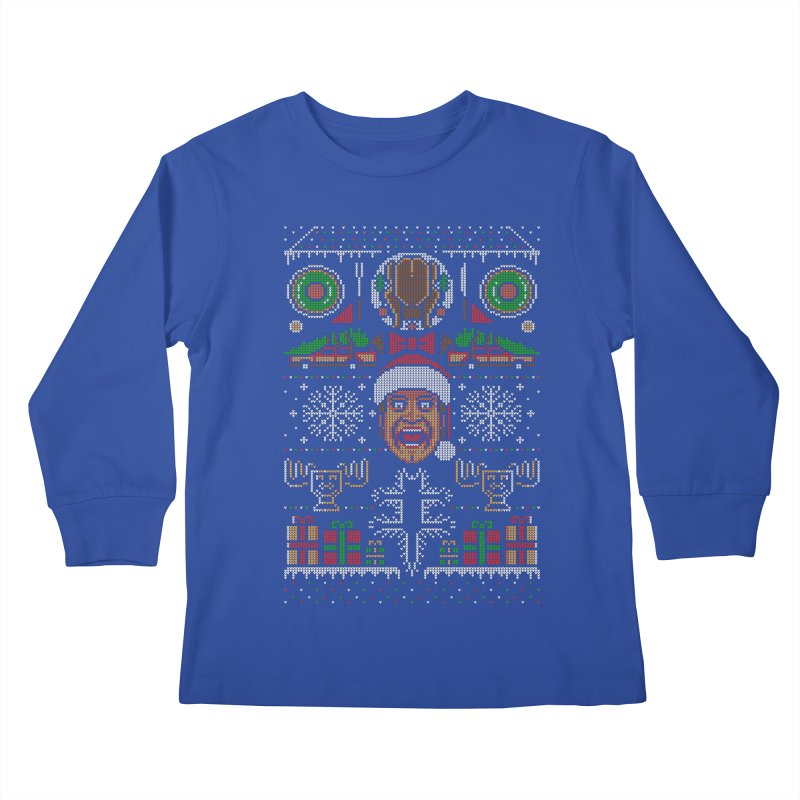 Hap Hap Happiest Christmas Kids Longsleeve T-Shirt by Stationjack Geek Apparel