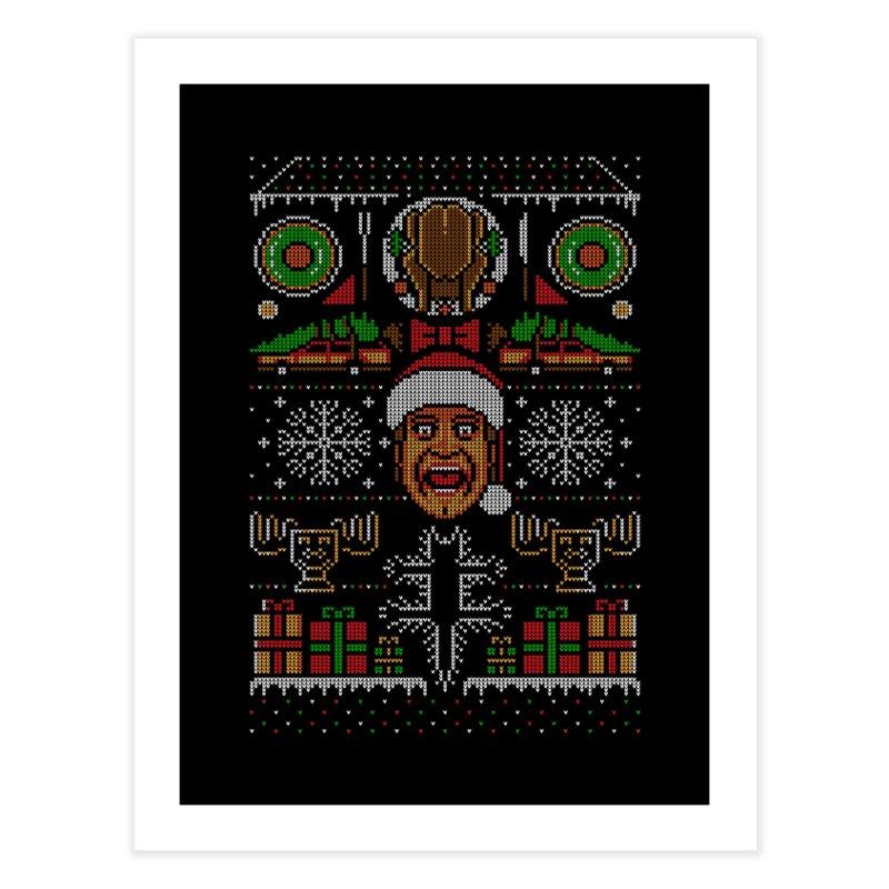 Hap Hap Happiest Christmas Home Fine Art Print by Stationjack Geek Apparel
