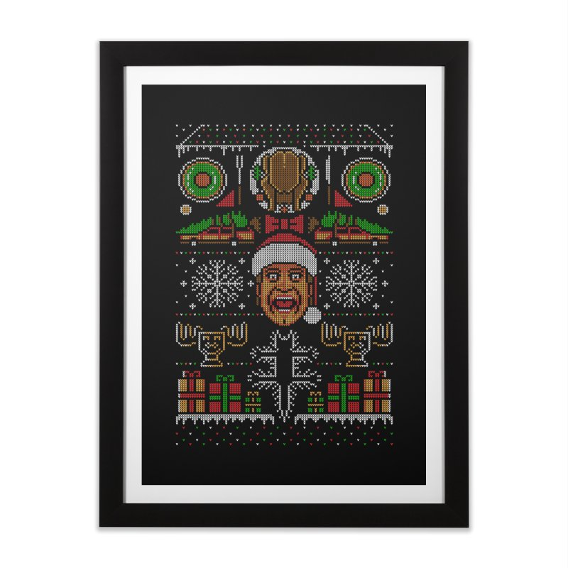 Hap Hap Happiest Christmas Home Framed Fine Art Print by Stationjack Geek Apparel