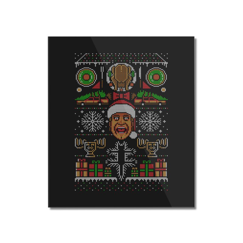 Hap Hap Happiest Christmas Home Mounted Acrylic Print by Stationjack Geek Apparel