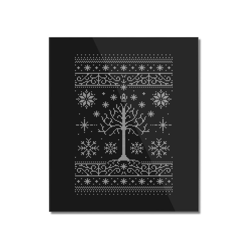 Minas Christmas Home Mounted Acrylic Print by Stationjack Geek Apparel