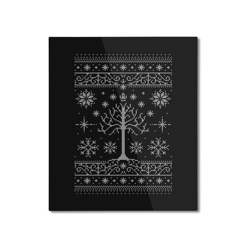 Minas Christmas Home Mounted Aluminum Print by Stationjack Geek Apparel