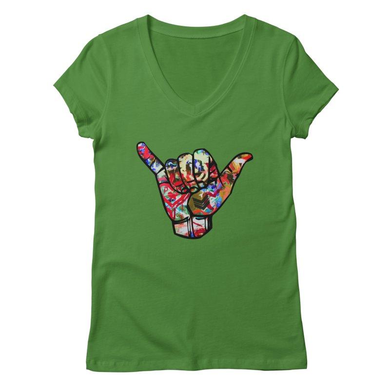 SHAKA Women's V-Neck by Civil Wear Clothing