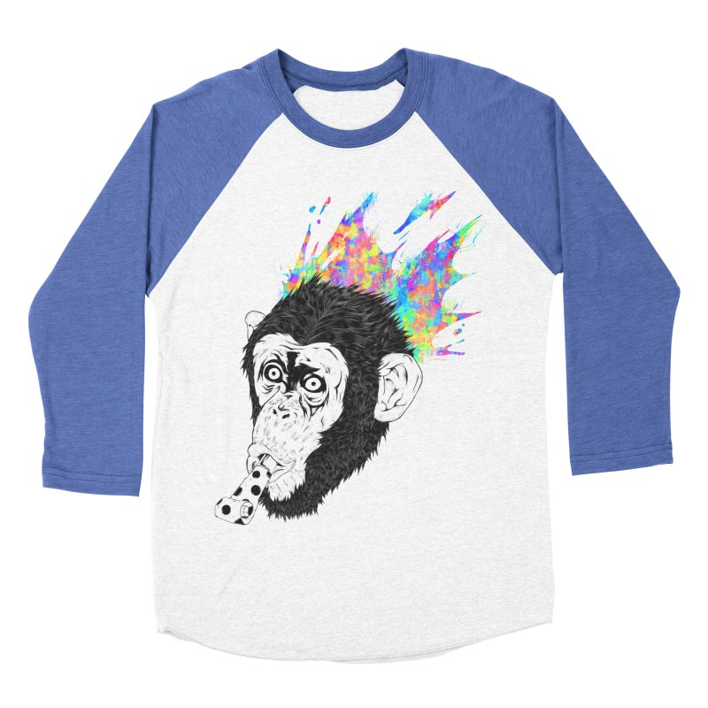 Party Animal Men's Baseball Triblend T-Shirt by Civil Wear Clothing