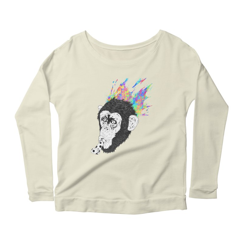 Party Animal Women's Longsleeve Scoopneck  by Civil Wear Clothing