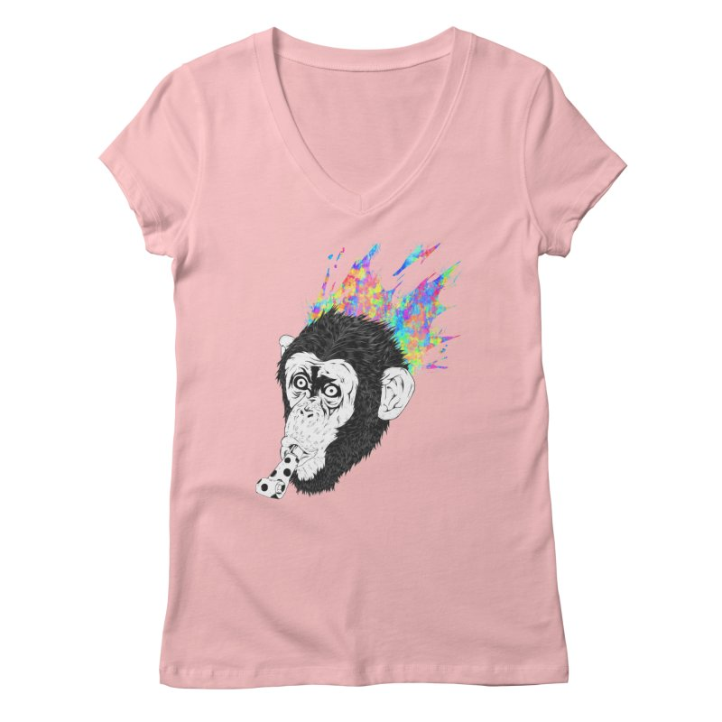 Party Animal Women's V-Neck by Civil Wear Clothing