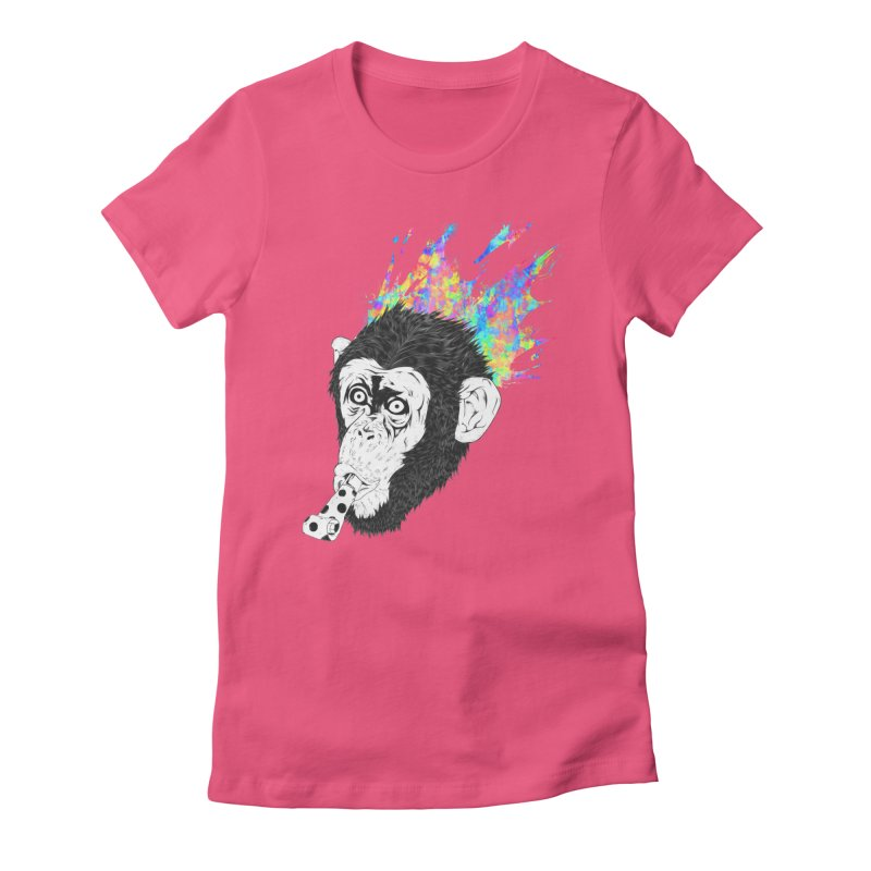 Party Animal Women's Fitted T-Shirt by Civil Wear Clothing