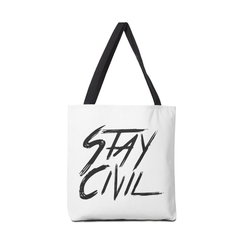 """Stay Civil"" Accessories Bag by Civil Wear Clothing"