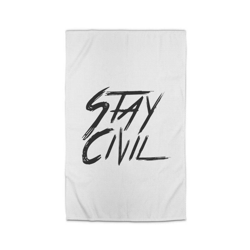 """""""Stay Civil"""" Home Rug by Civil Wear Clothing"""