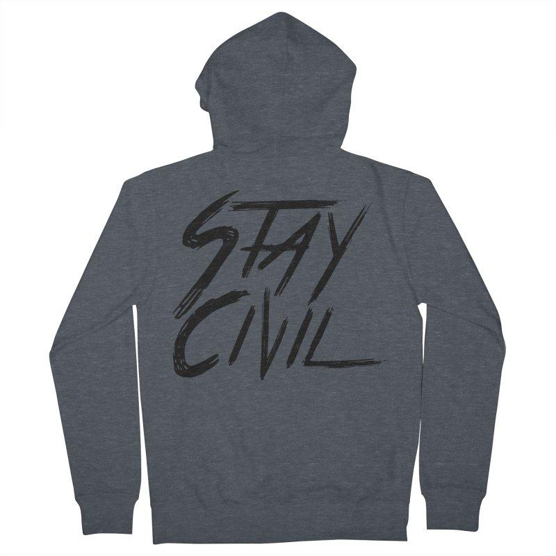 """Stay Civil"" Women's Zip-Up Hoody by Civil Wear Clothing"