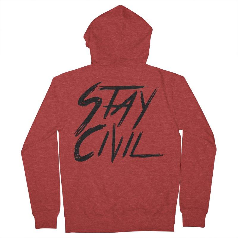 """Stay Civil"" Men's Zip-Up Hoody by Civil Wear Clothing"