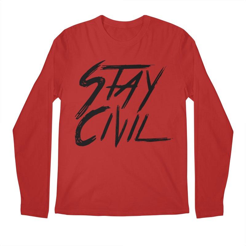 """Stay Civil"" Men's Longsleeve T-Shirt by Civil Wear Clothing"