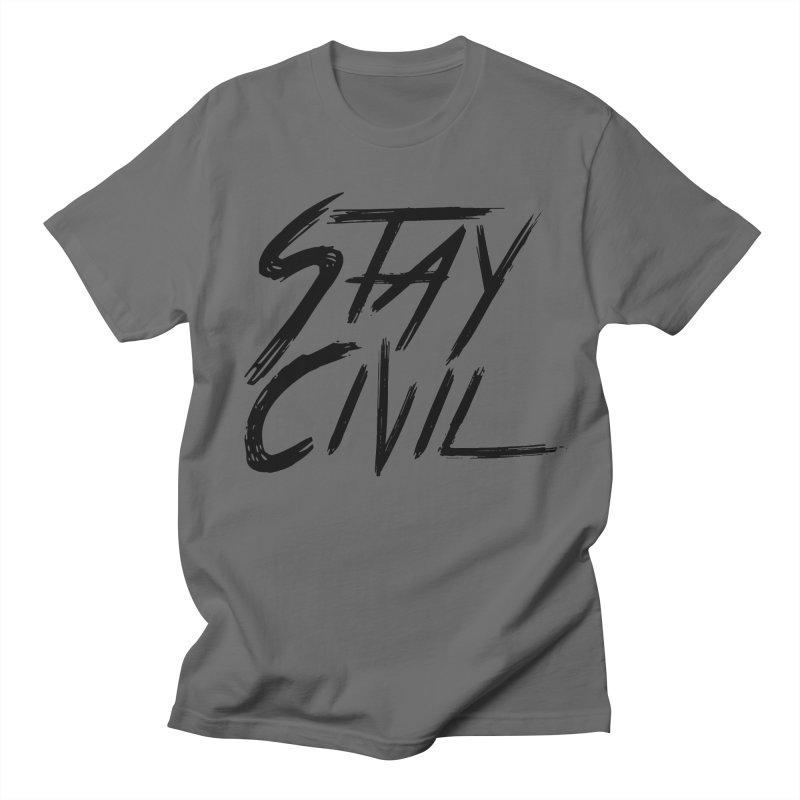 """Stay Civil"" Men's T-shirt by Civil Wear Clothing"