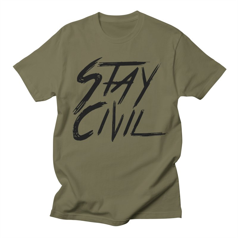 """Stay Civil"" Women's Unisex T-Shirt by Civil Wear Clothing"