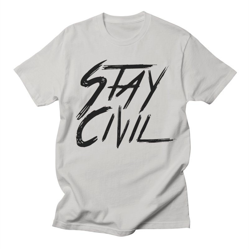 """Stay Civil"" Men's T-Shirt by Civil Wear Clothing"