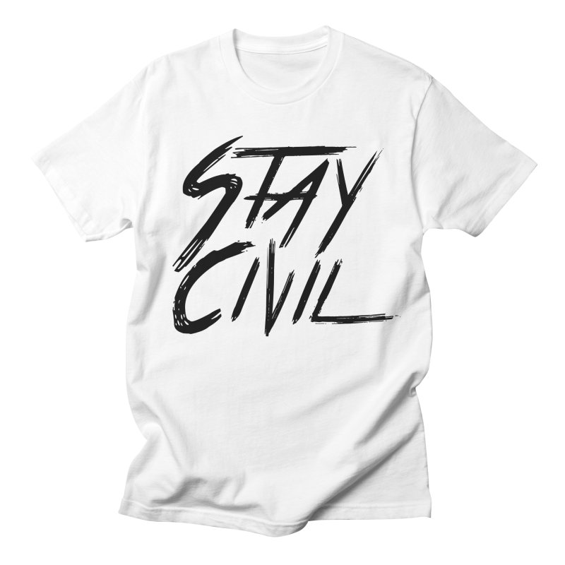 """Stay Civil"" in Men's T-Shirt White by Civil Wear Clothing"