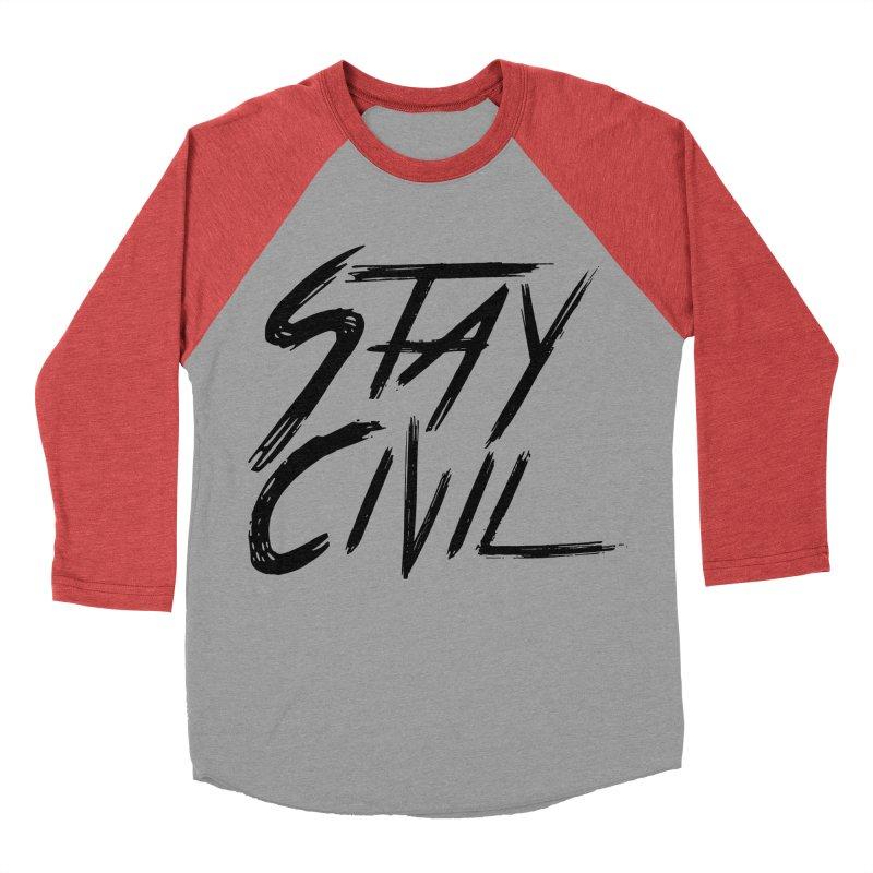 """Stay Civil"" Women's Baseball Triblend T-Shirt by Civil Wear Clothing"